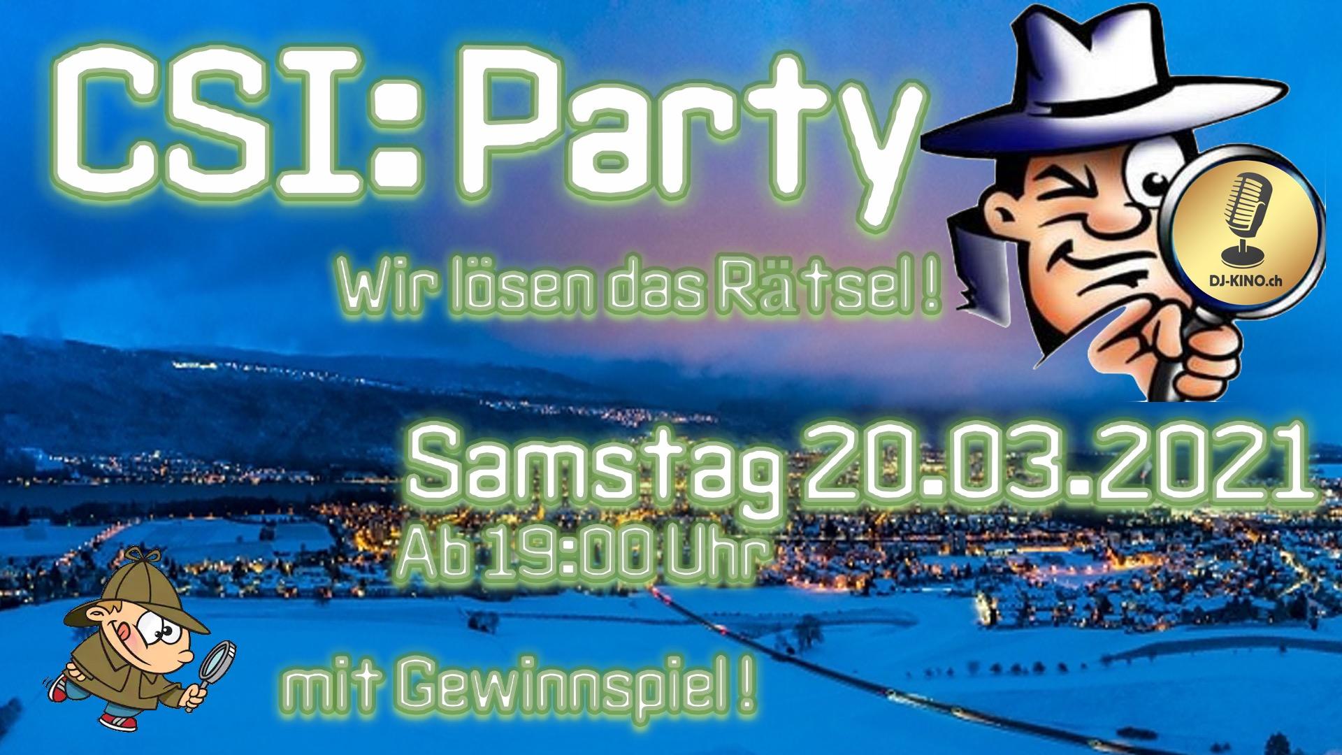 CSI:Party Flyer
